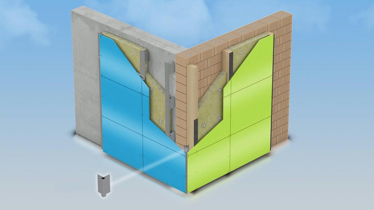 Fassadenplatten Holz mechanische befestigungstechnik für die vorgehängte hinterlüftete