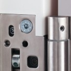 Hinges for steel and aluminium